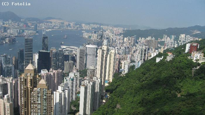 Vue panoramique - Hong Kong