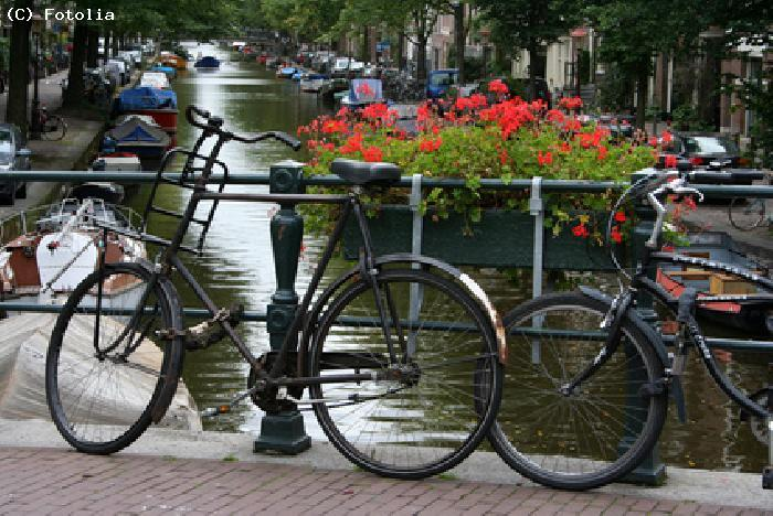 Balade a bicyclette - Amsterdam