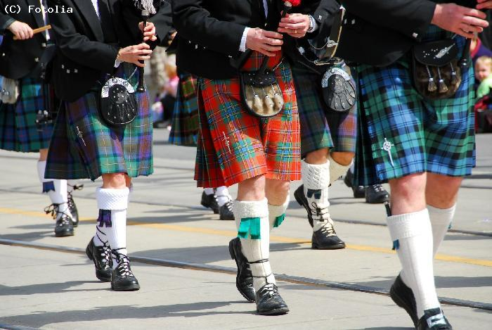 Habit traditionnel : le kilt - Edimbourg