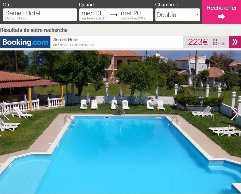 Vacances corfou une semaine 144 en h tel avec for Hotel avec piscine pas cher